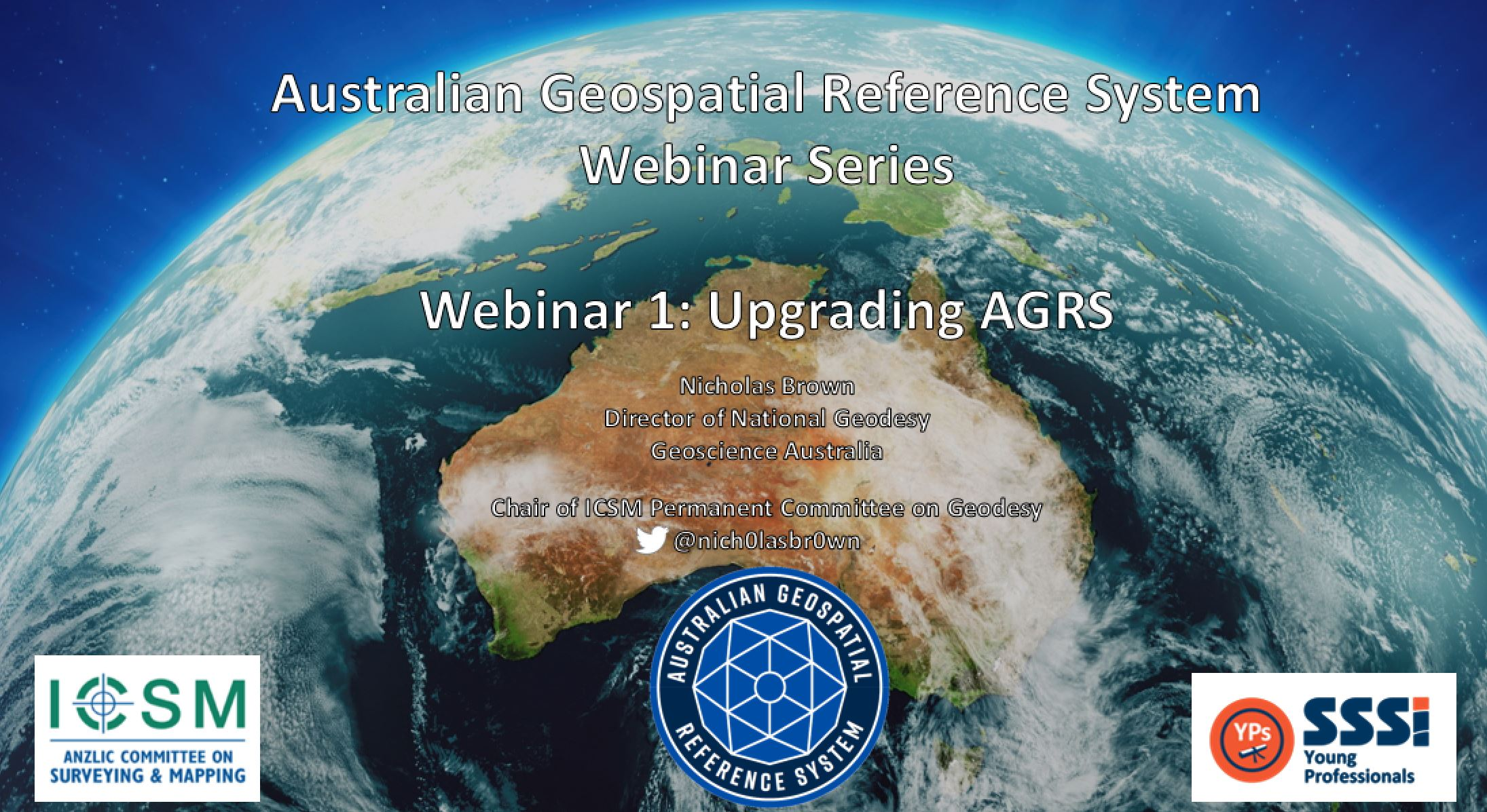Image of Australia with title of webinar on it