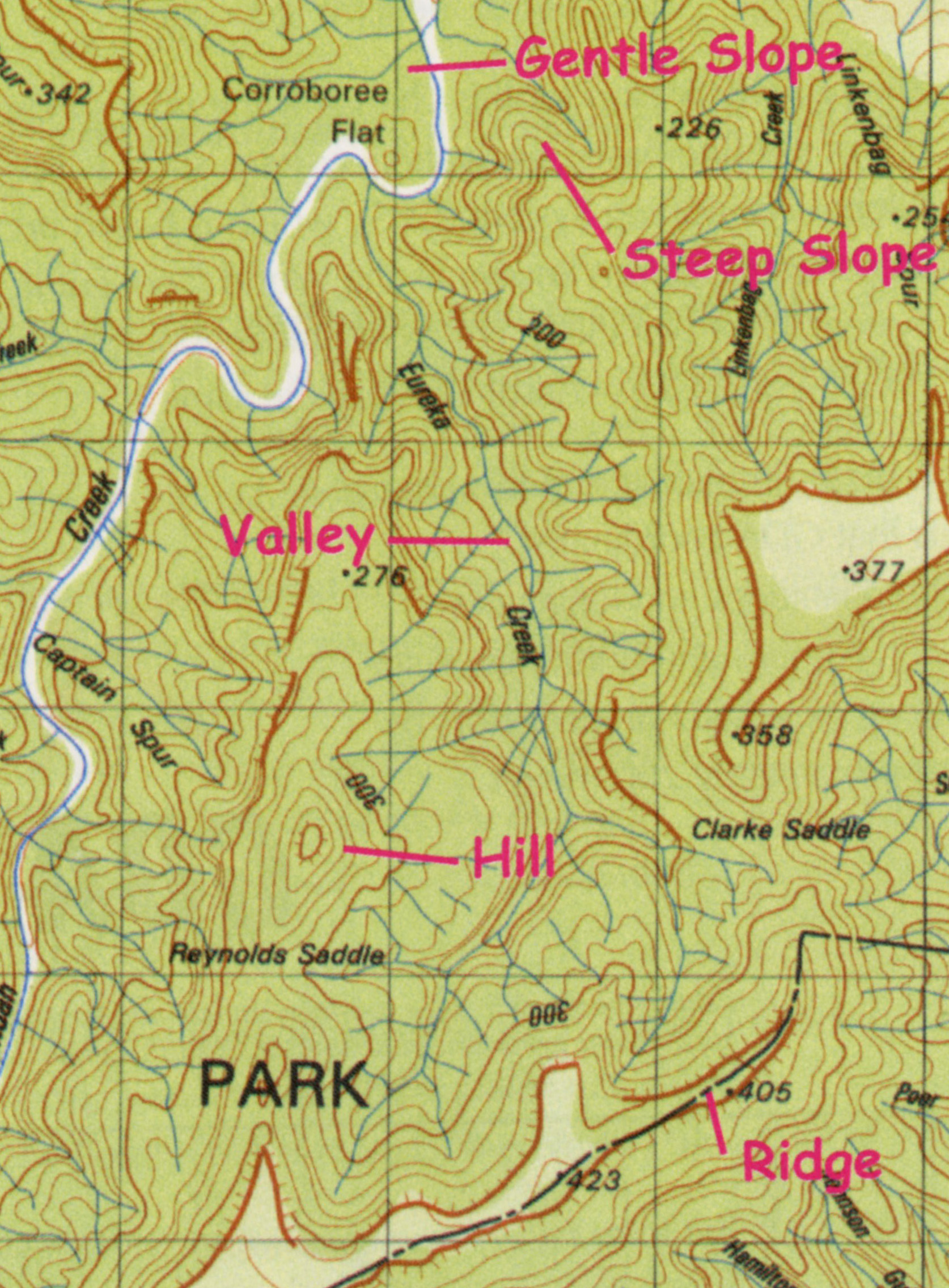 topographic maps in v shape image collections