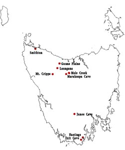 Common thematic map of Tasmanian limestone caves